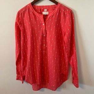 Ann Taylor LOFT The Softened Popover Shirt S